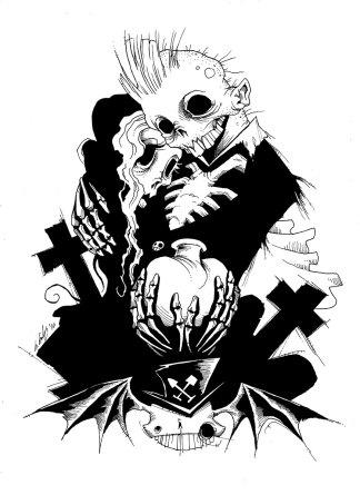 Cryptcourtship gris grimly corpse lovers dead graveyard bat love skeleton