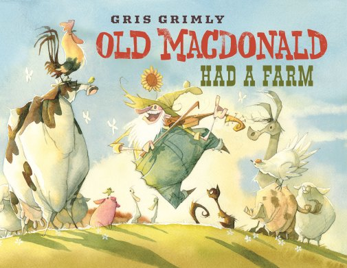 Old MacDonald Had A Farm gris grimly farm rural watercolor animals mcdonald childrens picture book