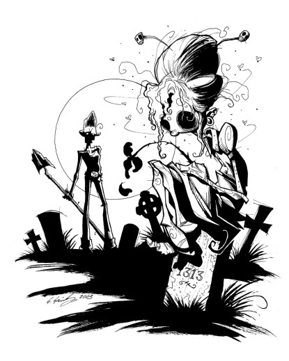 Unconventional amore gris grimly zombie zombies graveyard lovers dead ghouls ghoul halloween