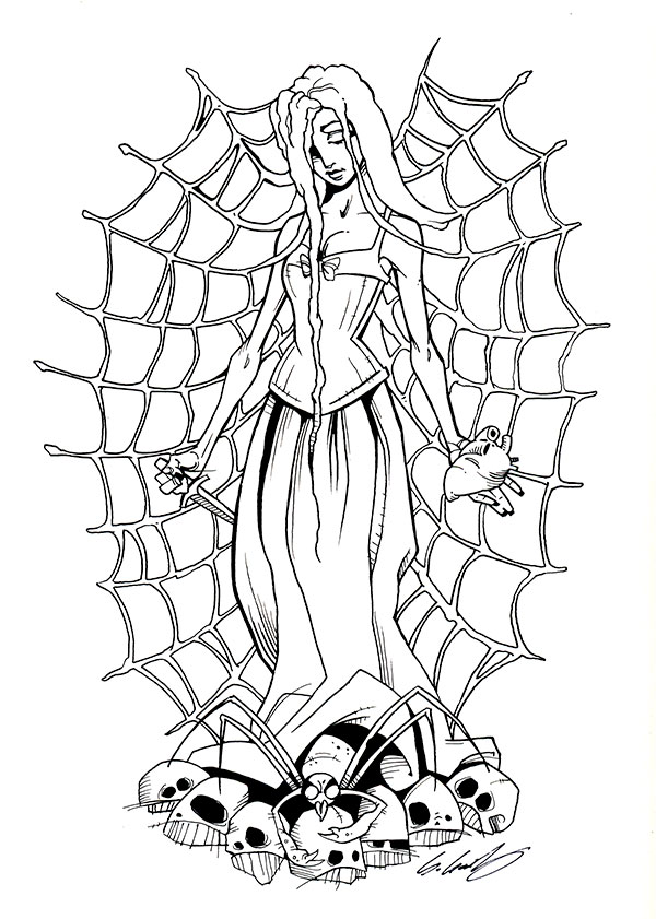 Spidermother Bw