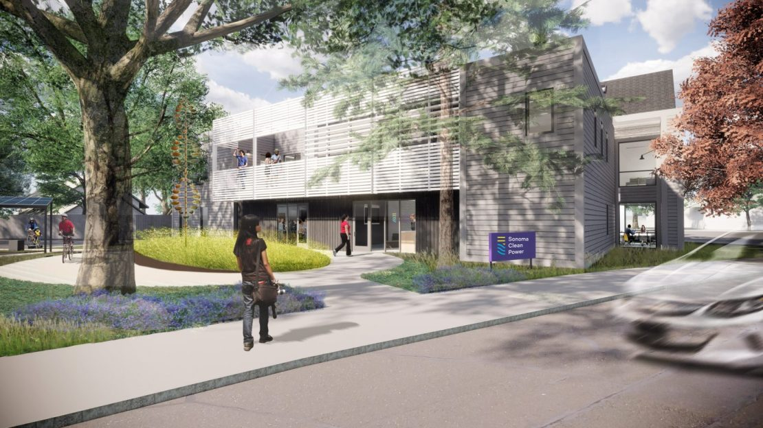Rendering of the Sonoma Clean Power corporate headquarters