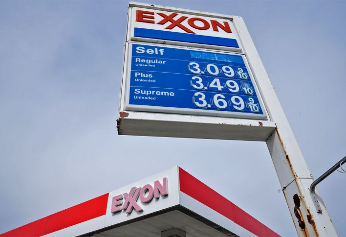 exxon sign - The Chamber of Commerce says it cares about people of color. The receipts say otherwise.