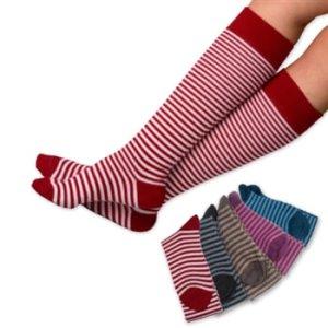 Alpaca striped knee Sock from Grist Mill Farm Alpacas
