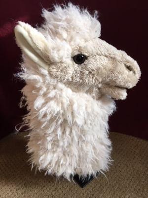 Alpaca hand puppet