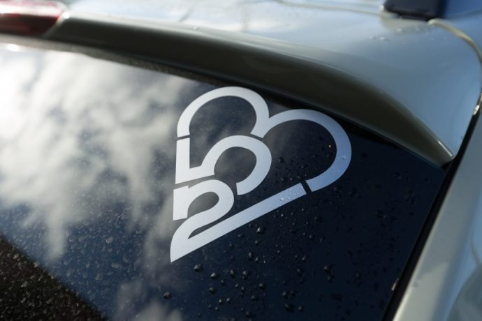253 Heart sticker
