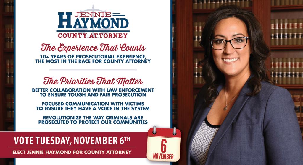 Jennie Haymond for County Attorney