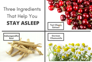 Utzy Naturals Three Ingredients to Stay Asleep