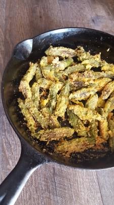 Fried whole Okra