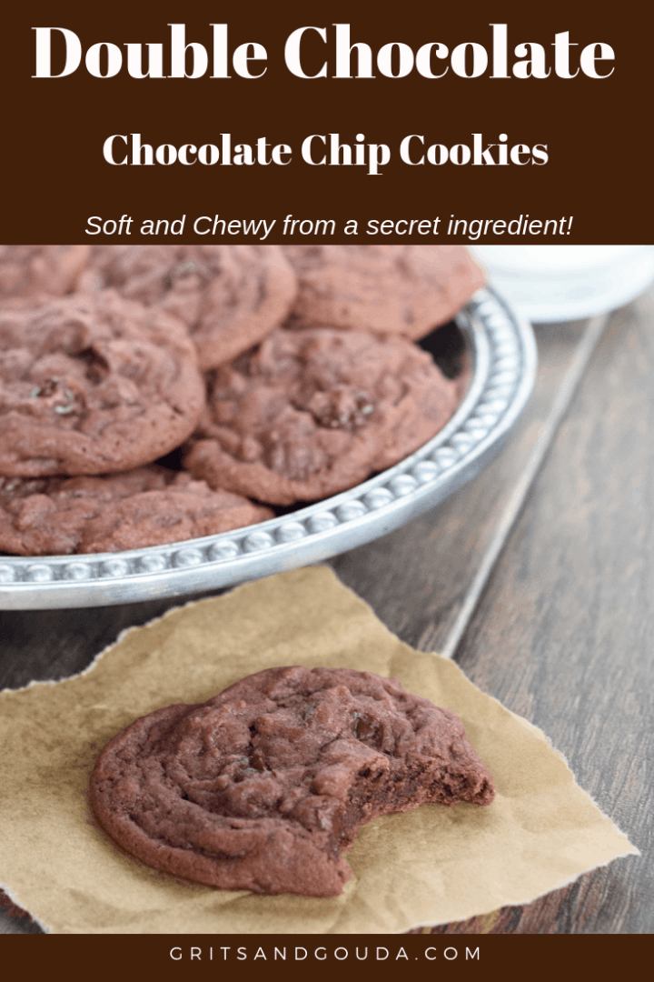 Double Chocolate Chip Cookies Pinterest pin