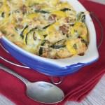 Sausage Squash Casserole yellow and zucchini keto diet