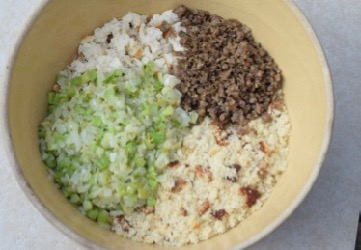 Cornbread Dressing How To 4 Everything in bowl