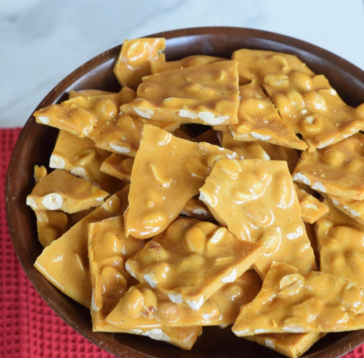 Easy Peanut Brittle made in the microwave