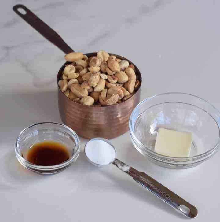 Microwave Peanut Brittle ingredients