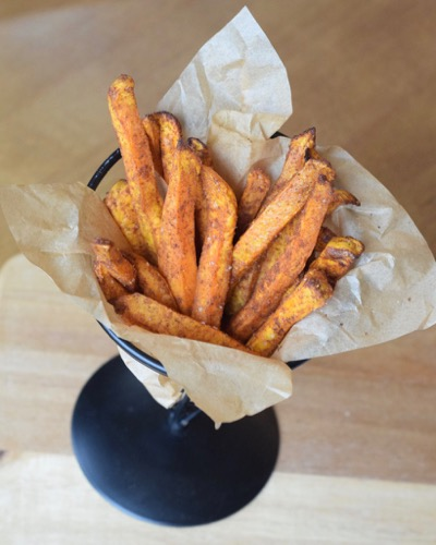 Air Fryer Indian Spiced Sweet Potato Fries i\