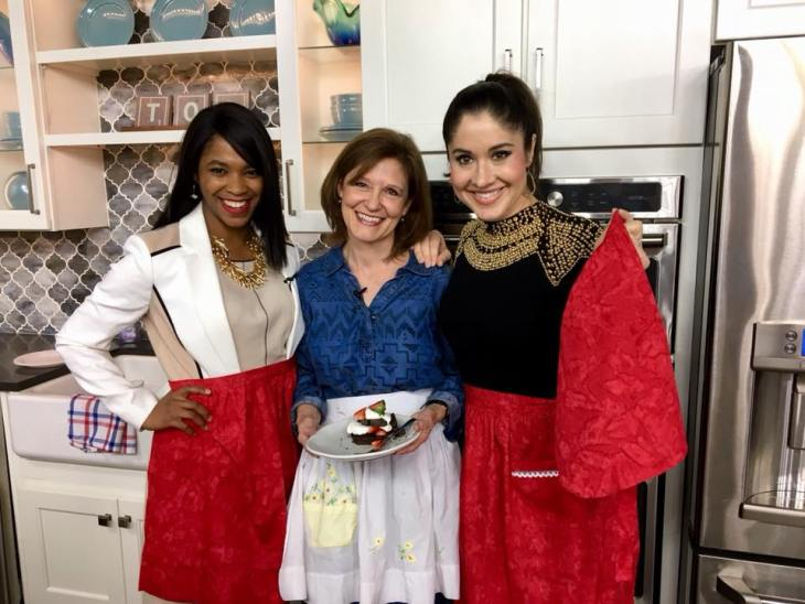TOA red aprons and chocolate biscuit shortcakes java nicole kat