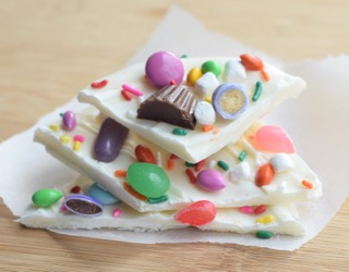 Easy Easter Candy Bark: Raid the Easter candy basket to make special fun candy bark with your kids!