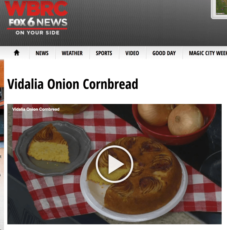 WBRC Video pic Vidalia Cornbread