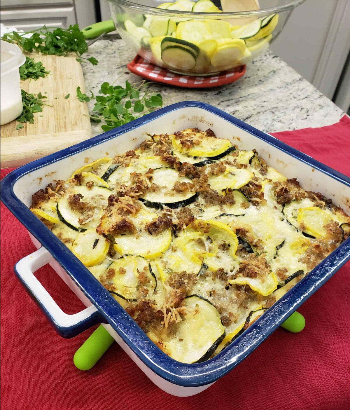 Sausage squash casserole keto on WBRC Fox 6 Good Day Alabama