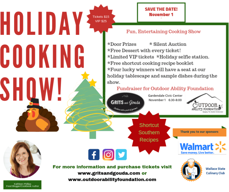 Holiday Cooking Show flyer page 1 update