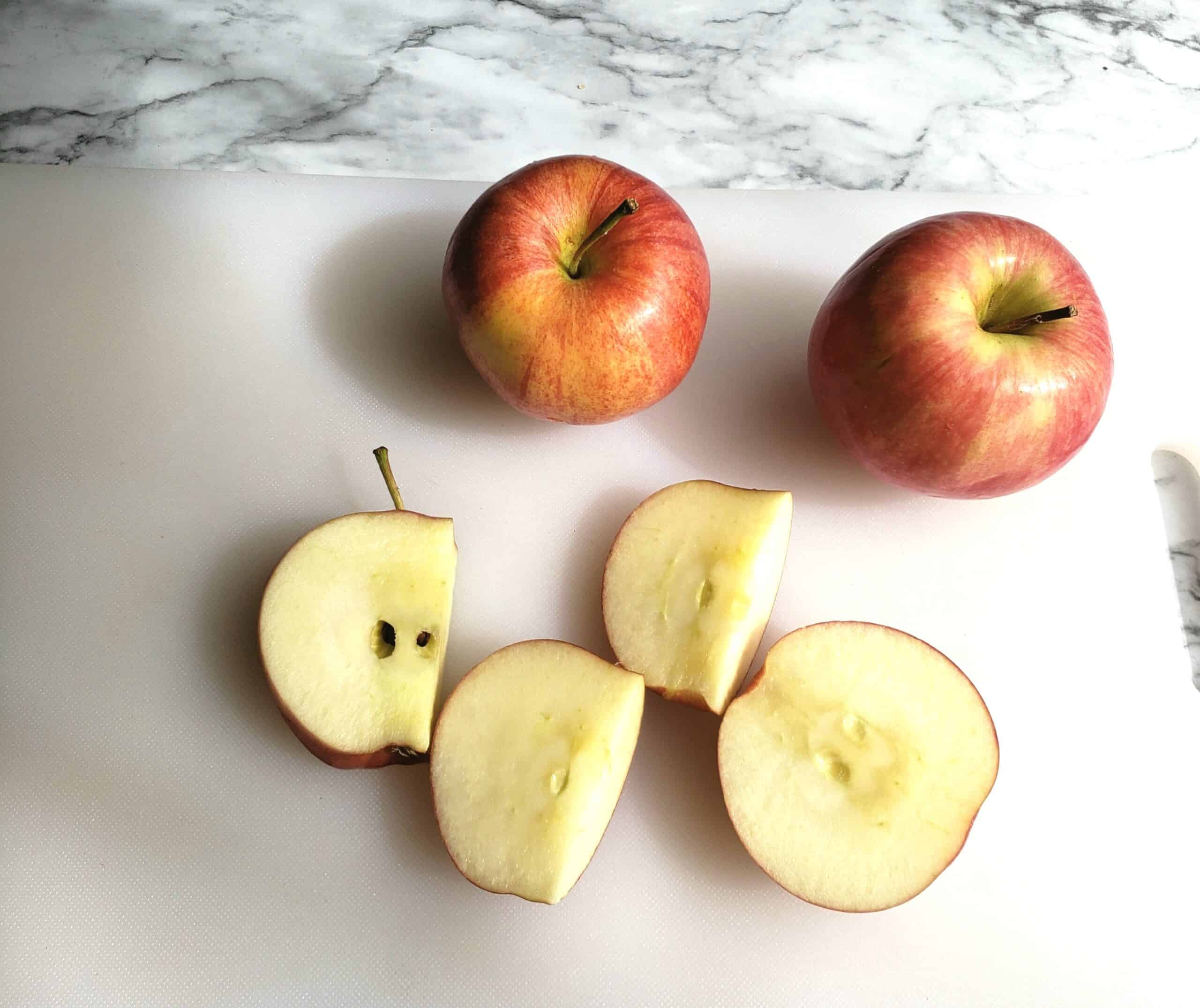 Cut apple without coring step 5