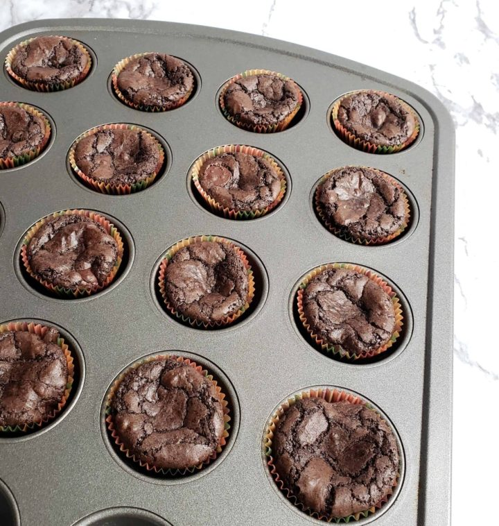 brownies baked in mini muffin pans