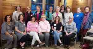 A lovely group of ladies in the Indian Springs Garden Club.