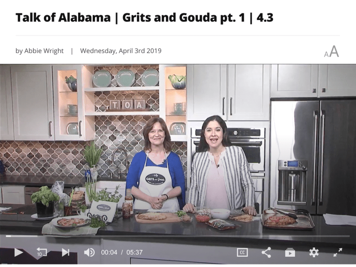 Talk of Alabama Segement 1 April 3 2019 on Cooking with Fresh Herbs with Kathleen Phillips from GritsAndGouda.com