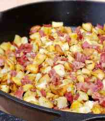 Corned Beef and Roasted Potato Hash turns leftovers a scrumptious Brunch or Brinner.