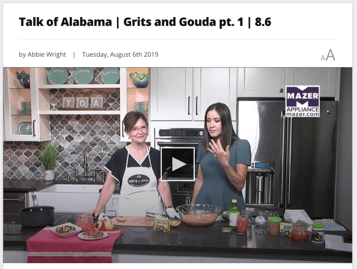 Kathleen Royal Phillips and Nicole Allshouse making Peach Freezer Marmalade on ABC 33/40's Talk of Alabama August 6 2019