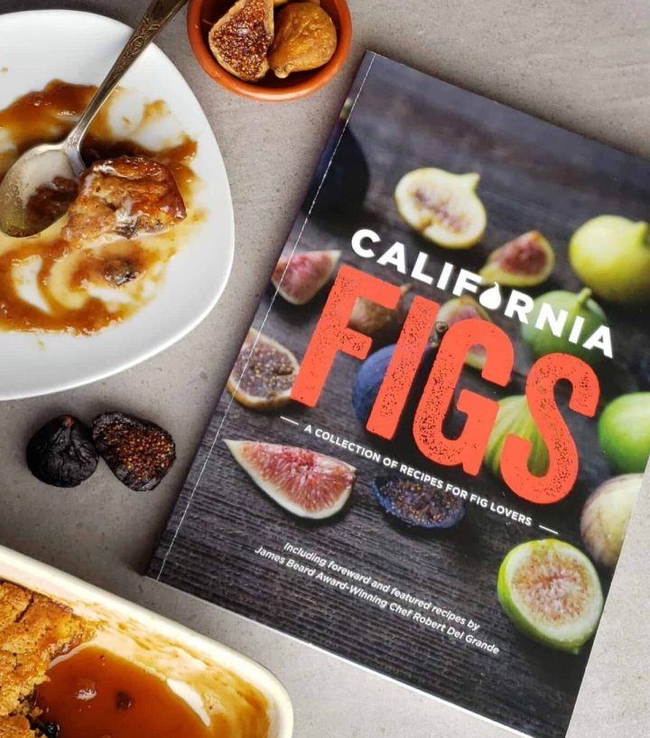 cookbook California Figs with plate of half eaten cake