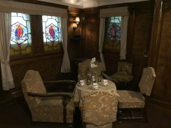 dining table in first class couples room