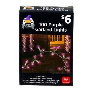 100 purple garland string lights