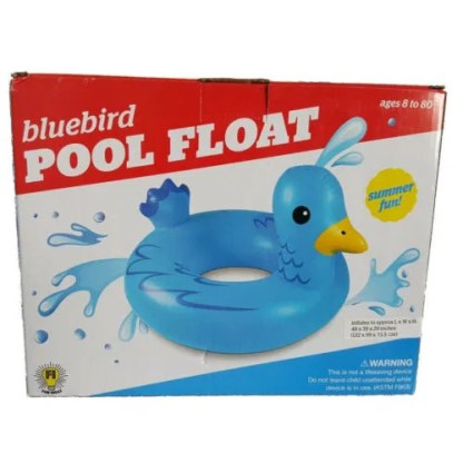 Pool Float Jumbo Size Toy Inflatable Blue Duck Ride On by Bluebird