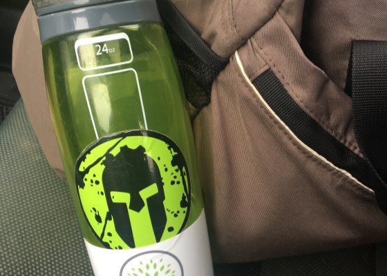 gym bag and water bottle with GRLIFE sticker