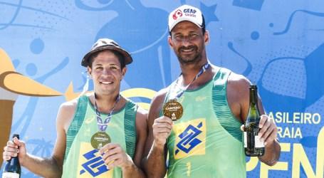 Ricardo leva ouro ao lado de Álvaro Filho em São Luís e quebra recorde no vôlei de praia