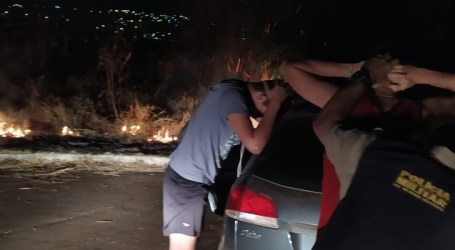Preso trio suspeito de causar incêndio florestal no bairro Senador Valadares