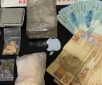 Preso com maconha, crack e dinheiro em Formiga, após denúncia anônima