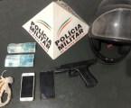 Após perseguição PM prende dupla que roubou capacete e celular em São José da Varginha