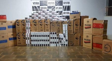 PM prende suspeito e apreende mais de 18 mil maços de cigarros contrabandeados em Luz