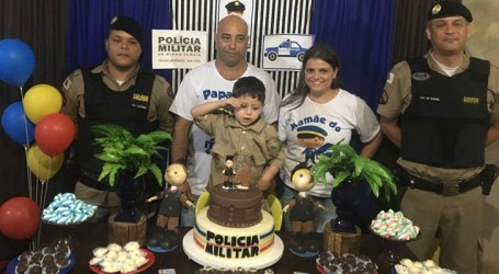 Maravilhas: PM participa de festas de aniversário de admiradores do trabalho policial