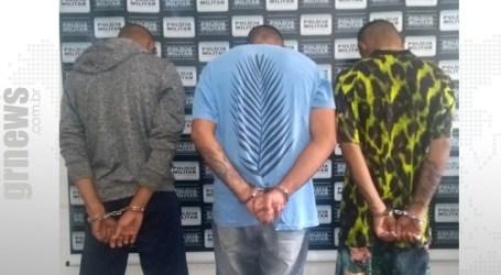 PM prende trio suspeito de tentativa de homicídios em Papagaios