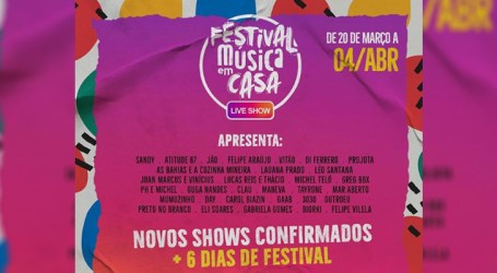 """Universal e GTS anunciam novas datas e atrações do """"Festival Música em Casa"""""""