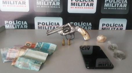 Pompéu: militares localizam envolvidos em roubo e realizam apreensão de arma e drogas