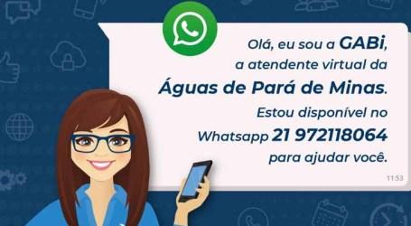 Águas de Pará de Minas lança atendente virtual para solicitação de segunda via, serviços e negociar débitos