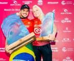 Gabriel Medina vence e Tati Weston-Webb é vice em etapa de surfe na Austrália