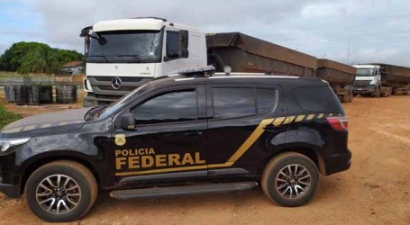 Agentes da PF apreendem 100 toneladas de minério irregular no Pará