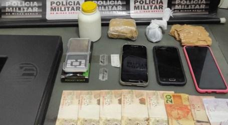 Mulher é presa com drogas, maleta de arma de fogo e celulares em Bom Despacho
