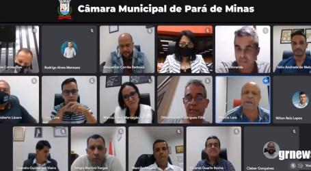 Em reunião repleta de discussões, vereadores derrubam projeto que acabaria com nepotismo em Pará de Minas