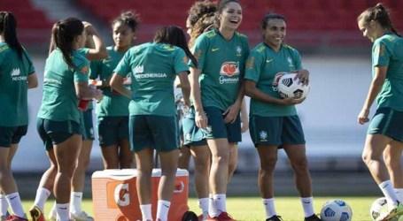 Seleção brasileira feminina realiza primeiro treino na Austrália