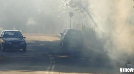 Polícia Militar Rodoviária orienta motoristas para evitar acidentes durante queimadas nas margens de estradas